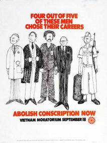 Anti-Conscription Poster Promoting Moratorium March