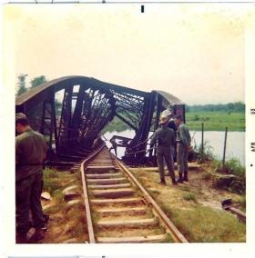 Bridge Destroyed By Night Sapper Attack