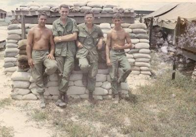 Group of Soldiers Outside A Bunker