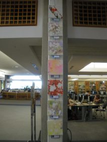 Column with children's art