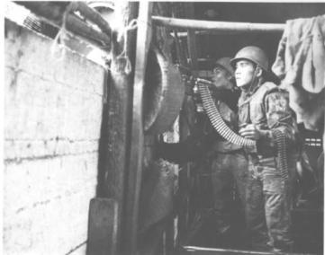 Machine Gun Team of Vietnamese Paratroopers in Action