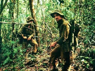 Sergeant Tom Birnie (right), with Unidentified Soldier on Patrol