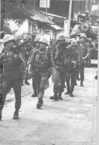 Vietnamese Marines Fight Communist Infiltrators in Gia Dinh
