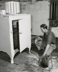 Student Reconditioning Used Refrigerator