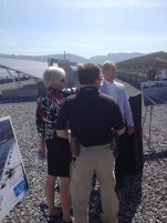 Flipping the switch on the new solar farm!