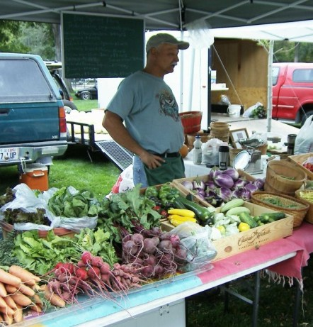 Blue Springs Farm at the market