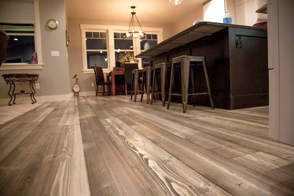 Rustic Douglas Fir Wood Floors  Gray Wooden Flooring