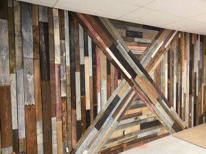 X pallet wall