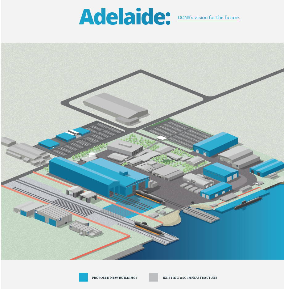 hight resolution of projected construction at adelaide to shape the facility to build and sustain the new class of