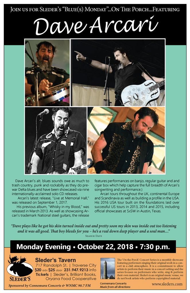 Dave Acari Concert Poster 10.22.18