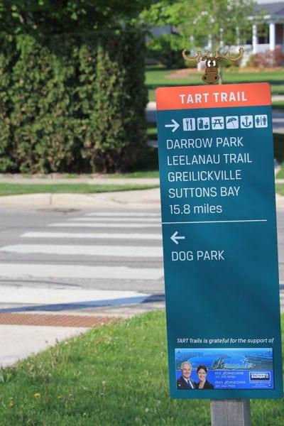 Tart Trail Sign with Sleder's Moose