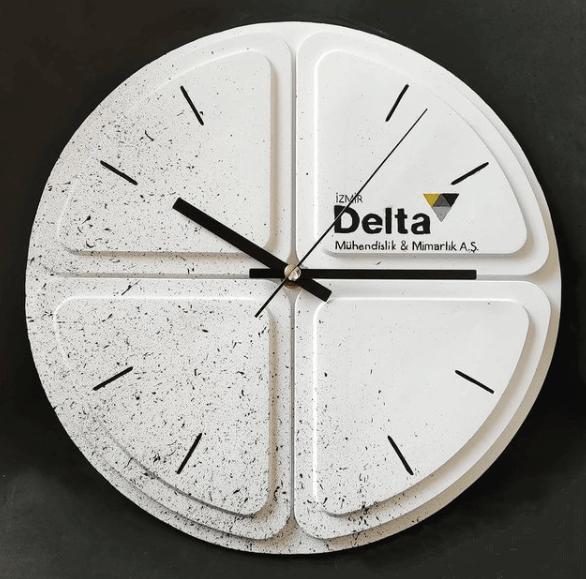 Beyaz Logo Saat