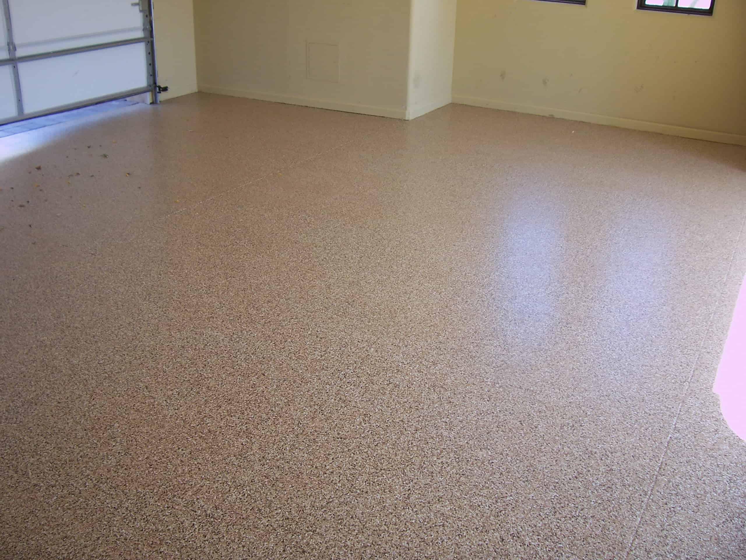 Epoxy Finish  Light Brown Garage Floor Finish  Sledge