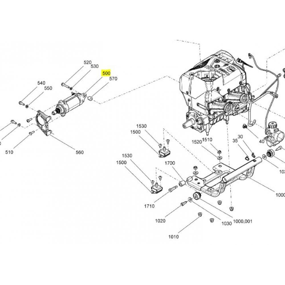 SM-01314 Стартер электрический SPI BRP Ski-doo / Lynx