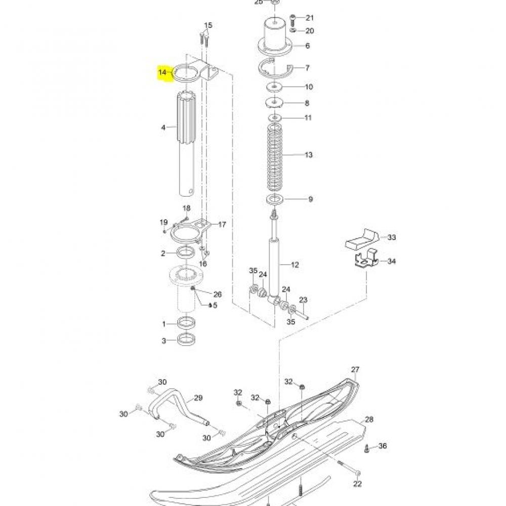 605353422 Рычаг рулевой BRP Ski-doo / Lynx RH в наличии