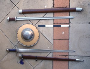 Swords and Large Buckler