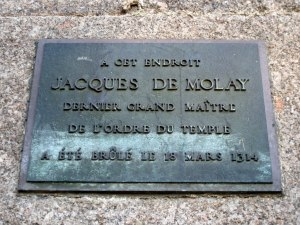 Commemoration Plaque: Jacques de Molay