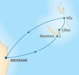 P&O Pacific Dawn Cruise Route