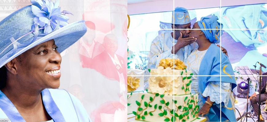 Verified Pastor Adeboye shares photo of himself kissing his wife, Foluke, who turns 72 today