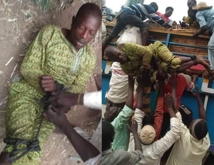 Man ''tied up and sent back home'' after leaving his family in search of greener pastures for 6 years (photos)