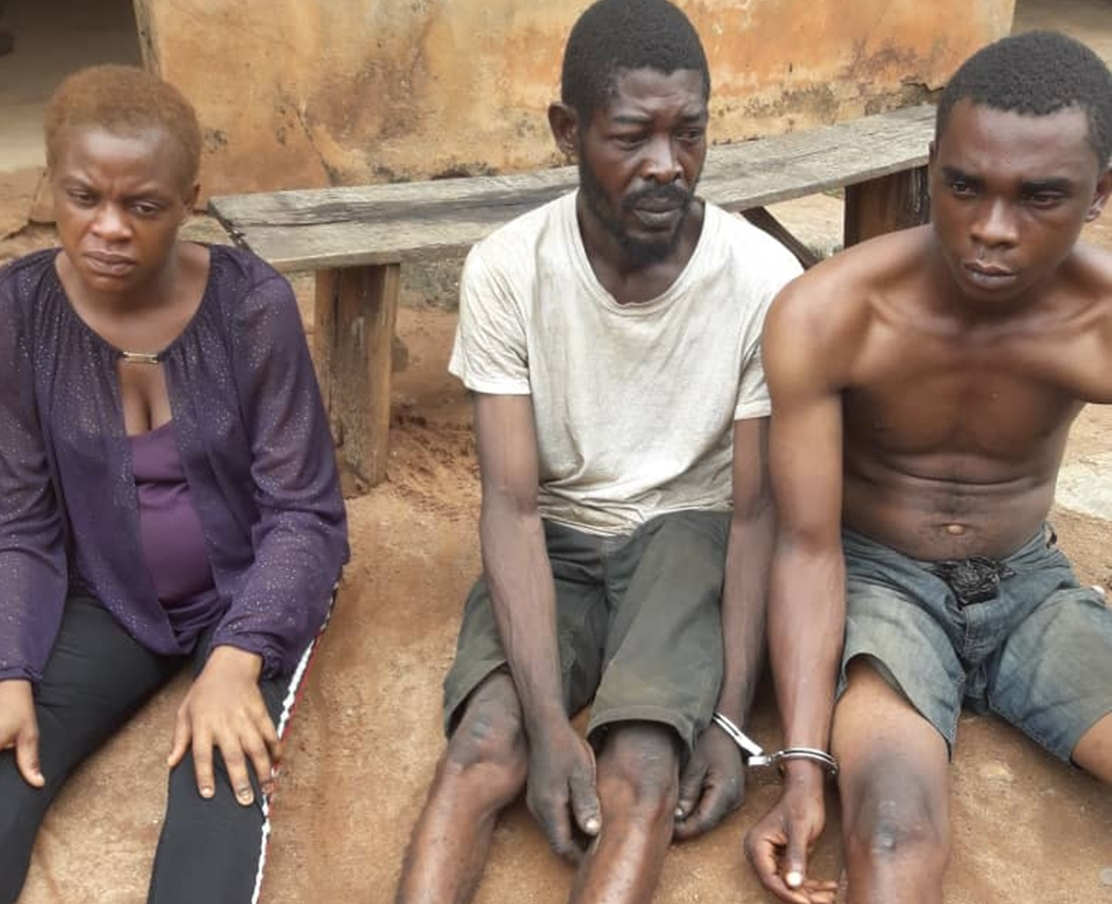 9-month-old pregnant woman, two others arrested for armed robbery in Edo