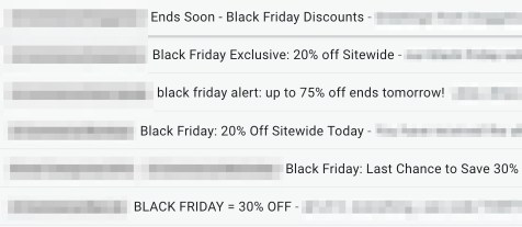 Black Friday Inbox