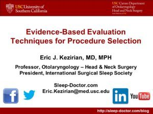 Procedure Selection in Sleep Apnea Surgery