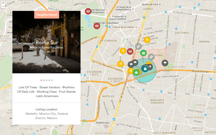Airbnb location map