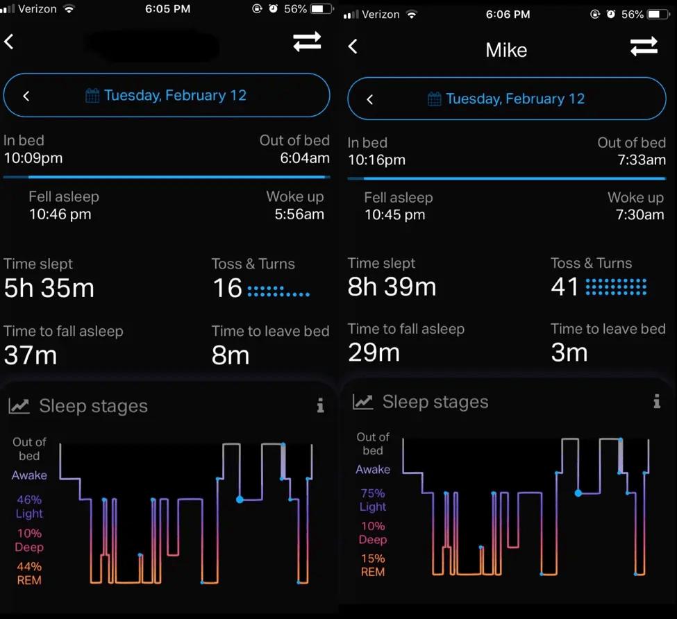 Eight Sleep App Pod Sleep Staging