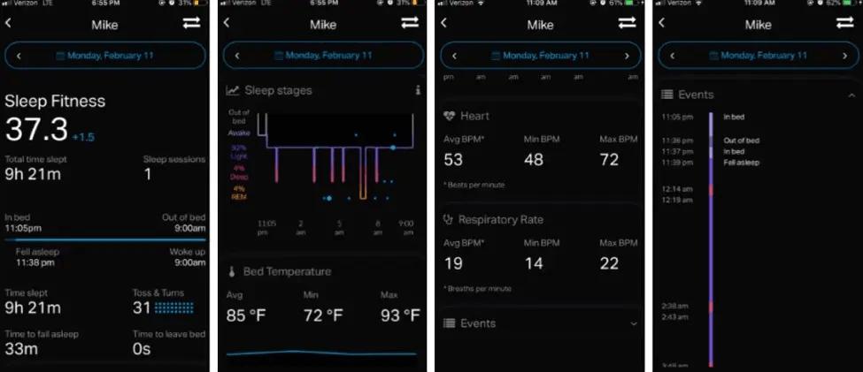 Eight Sleep Pod app
