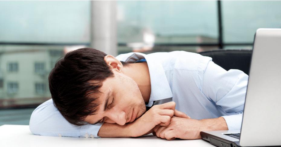 business - asleep at work