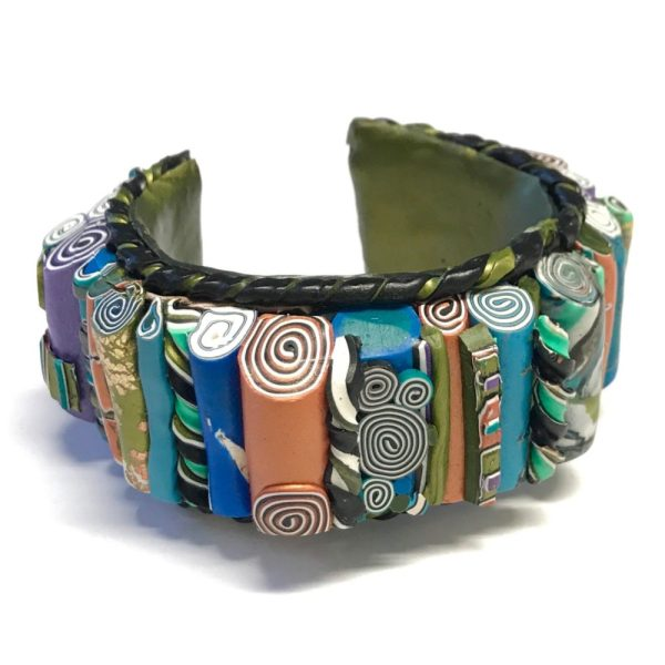 Sleepin' Dog | Stacked Polymer Cuff Bracelet