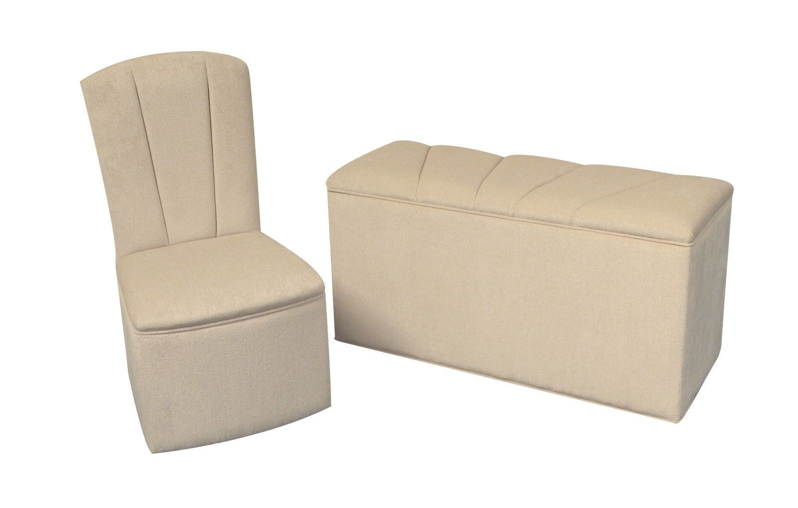 Chairs With Ottoman Designer Bedroom Chair Ottoman Set In Light Beige Chenille
