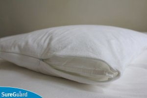 Sureguard pillow guard for allergic snoring through preventing dust mite infestation