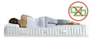 Effects of sleeping on an indented mattress