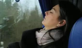 sleep on bus seat