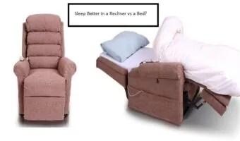 sleep recliner vs bed