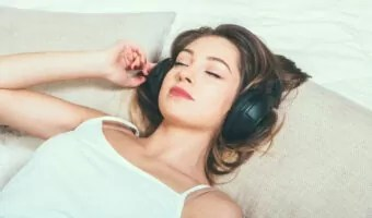 sleep with headphones