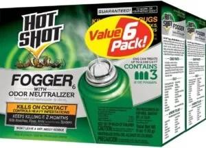 Use of Foggers or bug bombs
