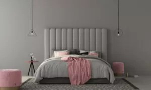 For a lasting fastening, attach your headboard to the wall