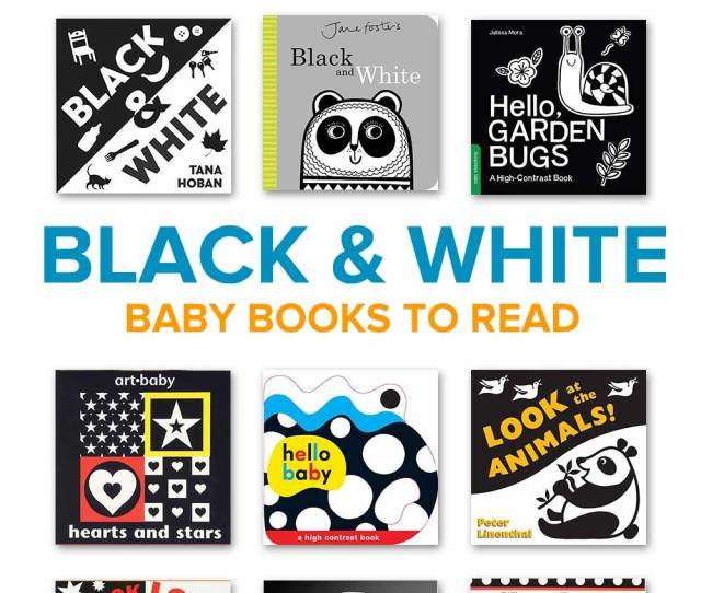 A Collection Of Black And White Baby Books For Newborns To Read