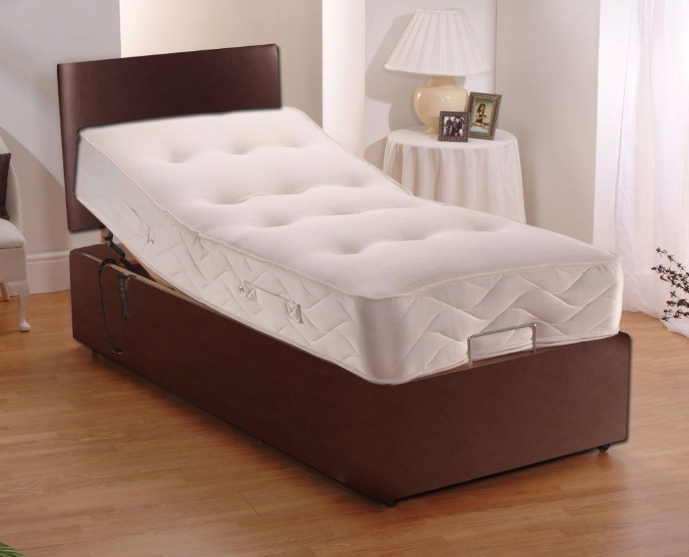 medium resolution of electric leather adjustable beds pocket sprung mattress headboard