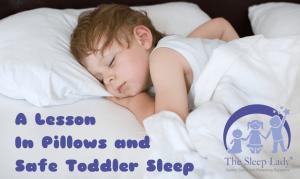 pillows and safe toddler sleep