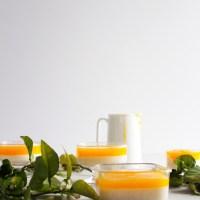 رز بحليب مبطن Rice Pudding with Orange Curd