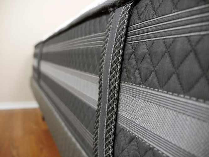 Ultra Close Up Shot Of The Beautyrest Black Desiree Mattress Handles
