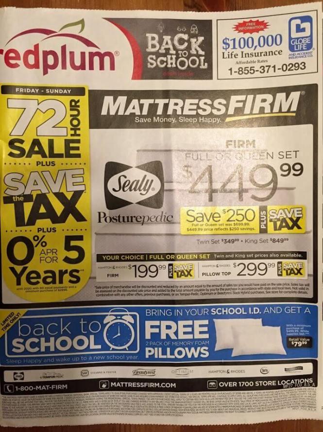 Mattress Firm Ad