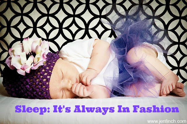baby sleeping purple tutu