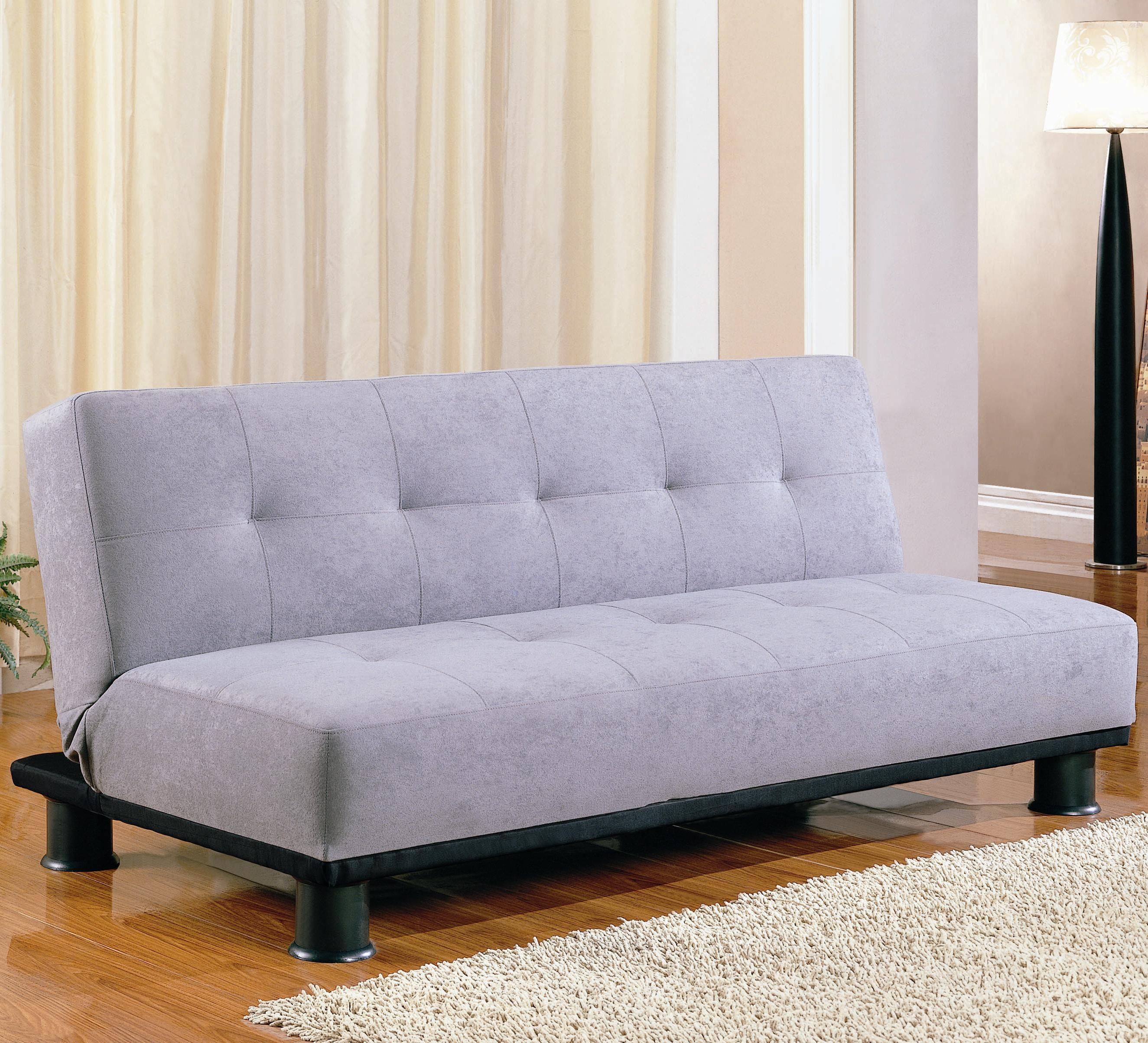 sleeper sofa no arms charcoal decorating ideas armless futon by coaster sleepworks