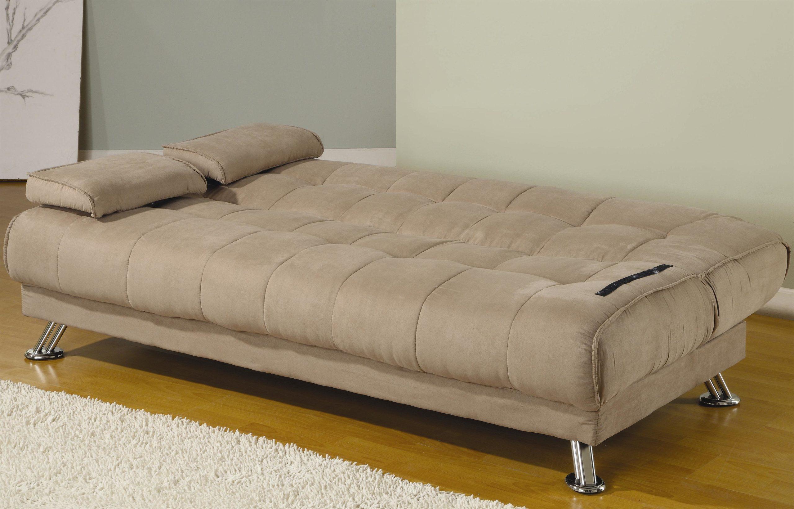 sleeper sofa futon dfs grey fabric tan microfiber sleepworks