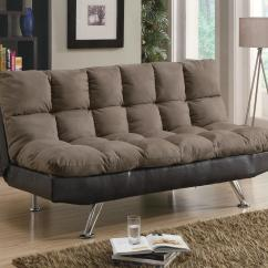 Sofa Befs Large Brown Leather Bed Micro Fiber Vinyl Futon Sleeper By Coaster Sleepworks And